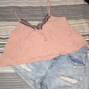 Shorts and crop top outfit